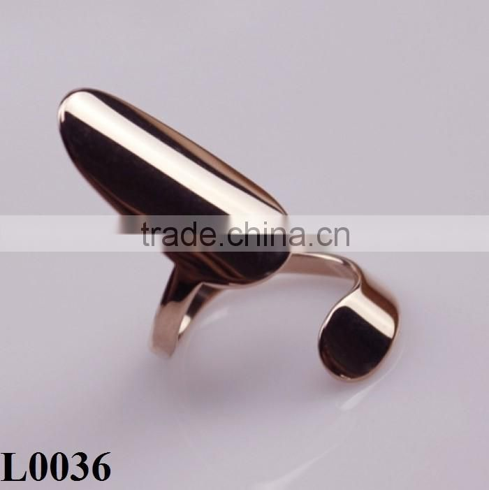2016 New Nightclub Girl Punk Silver/Gold Plated Metal Polish Nail Rings L0036