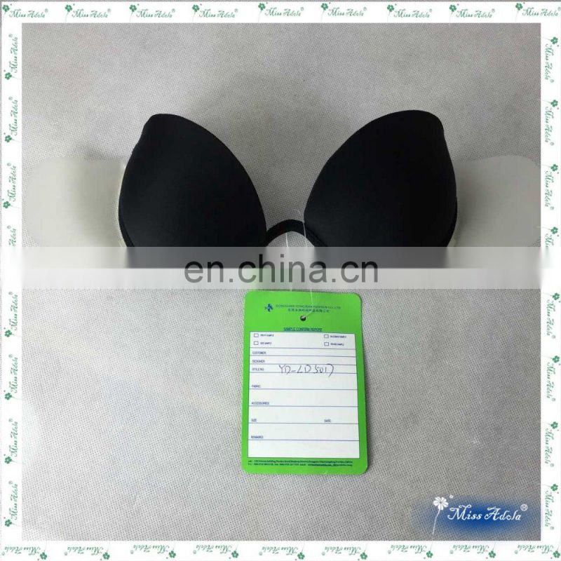 Missadola plastic stickup wings bra removable halter brassiere push up sticker wireline nude bra underwear ( YD-LD5017 )