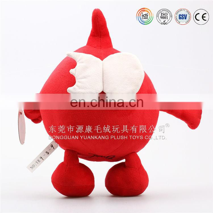 Classical design christmas cute red kiwi doll for sale