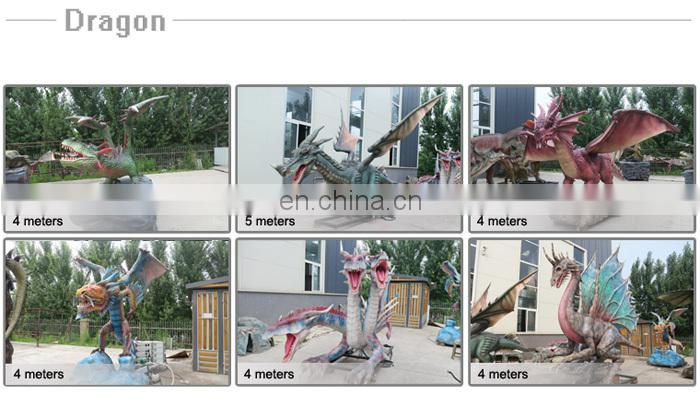Park Decoration Artificial Animatronic Dragon Model