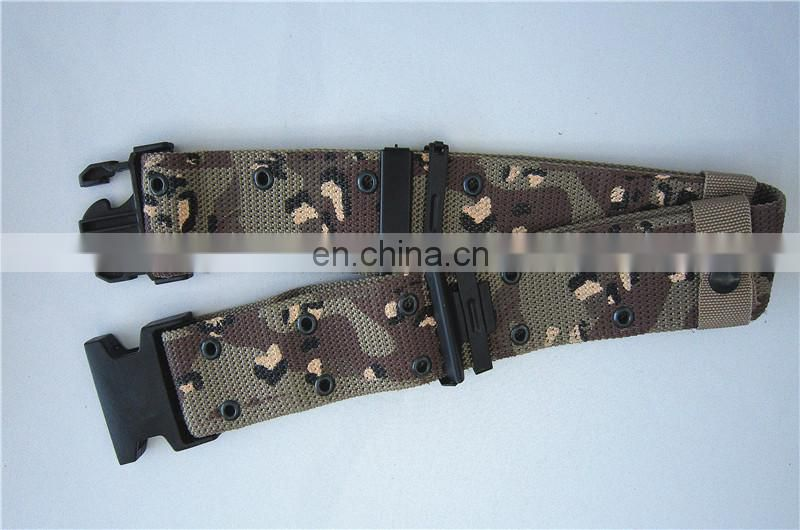 Camouflage PP Military Belt With Plastic Buckle