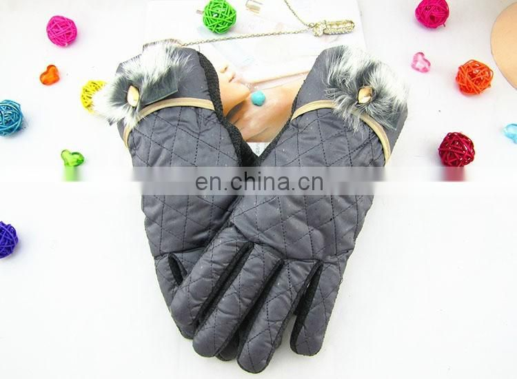 Fashion Cheap Winter warm leather driving gloves for ladies