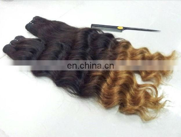 indian super wave hair with full end,3 pieces for one head