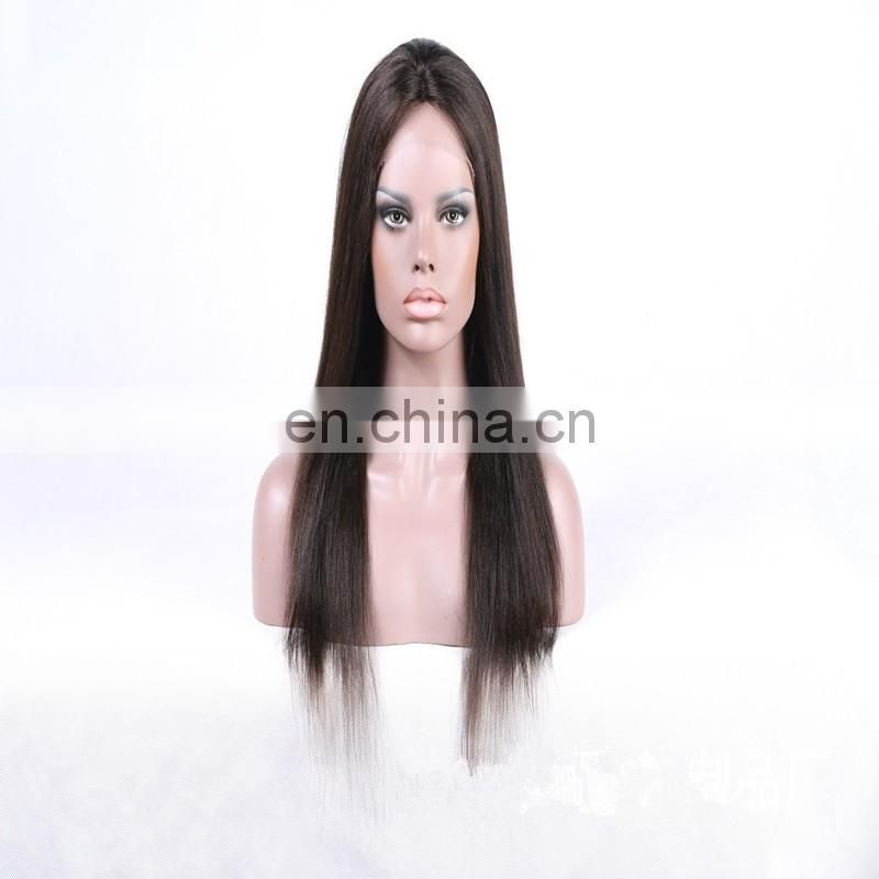 Remy human hair front lace wigs large in stock fast delivery front lace wig with remy virgin indian human hair
