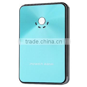 Portable & Rechargeable Mobile Power bank 8000mAh with LED flashlight and LED power indicator