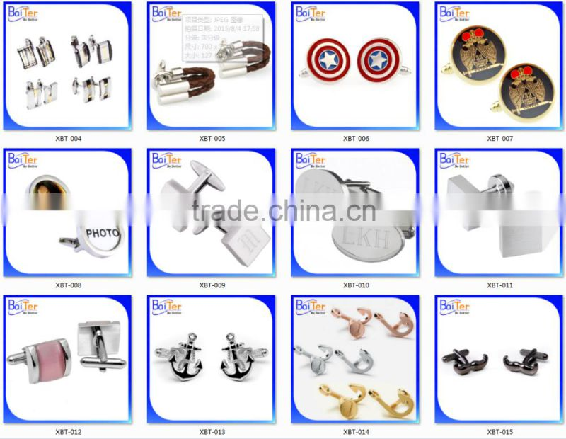 Round Silver Bezels Base Tray Photo Frame Stainless Steel Cuff Links,Wholesale Stainless Steel Custom Photo Cufflinks