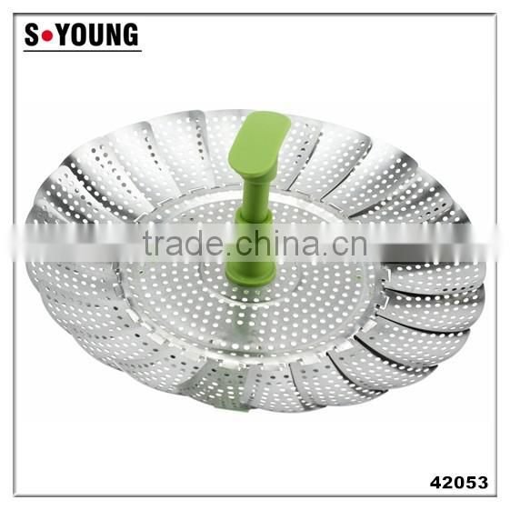 42002 Stainless Steel Foldable Vegetable Steamer Colander filter