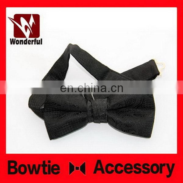 Fashion antique couture black bow tie