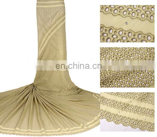 2014 New arrival gold african lace fabric