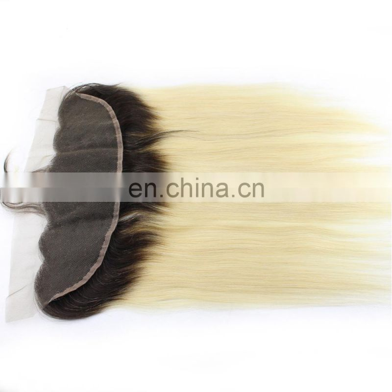 Hand Made 100% Virgin Remy Brazilian Human Hair Ombre Hair Extension Lace Closure