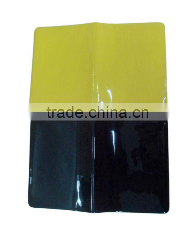 Plastic passport bag air ticket holder airline ticket holder yellow and black colors choose credit card holder