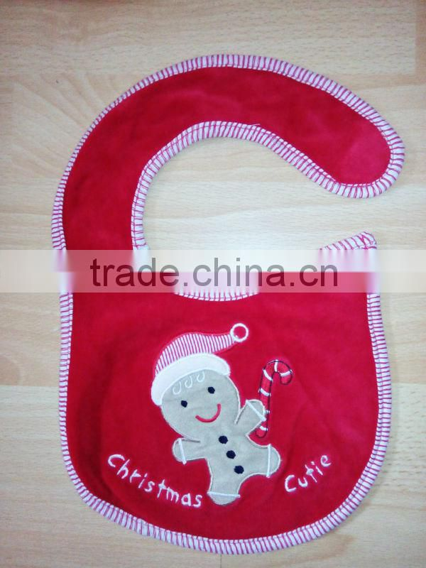 infants & toddlers&children's cotton baby bibs customized embroidered christmas logo bib-28 for baby