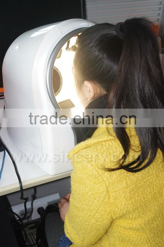 Newest 3D magic mirror wood lamp skin analyzer