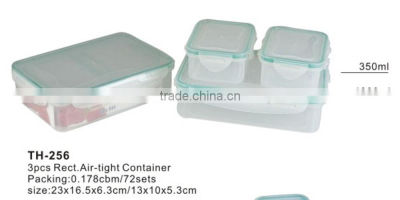 airtight plastic vacuum container round storage box set