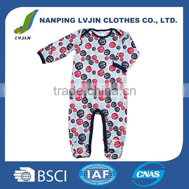 OEM Service baby clothes 2016 fashion comfortable baby sleepsuit, wholesale baby romper,Autumn Season baby jumpsuit