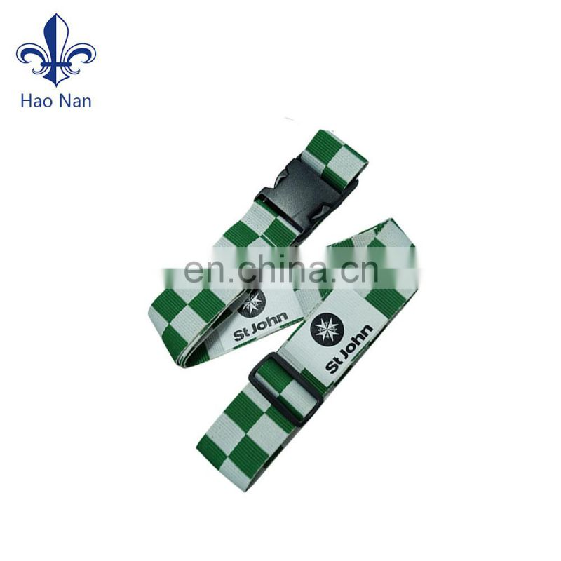 cheap wholesale single custom printed leather belts luggage strap personalized luggage straps