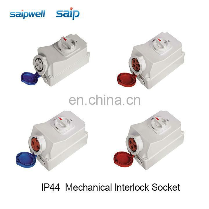 2 pins , 16A , 230VAC , IP44 SCHUKO socket