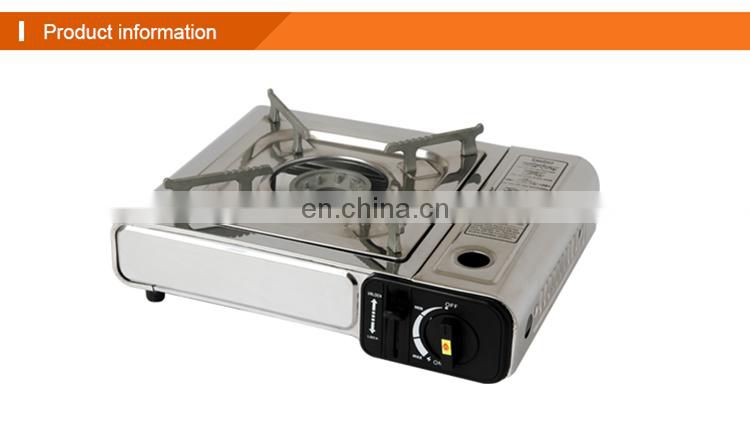 OEM ODM stainless steel portable Single mini Butane Gas Stove Burner with gas camping stove