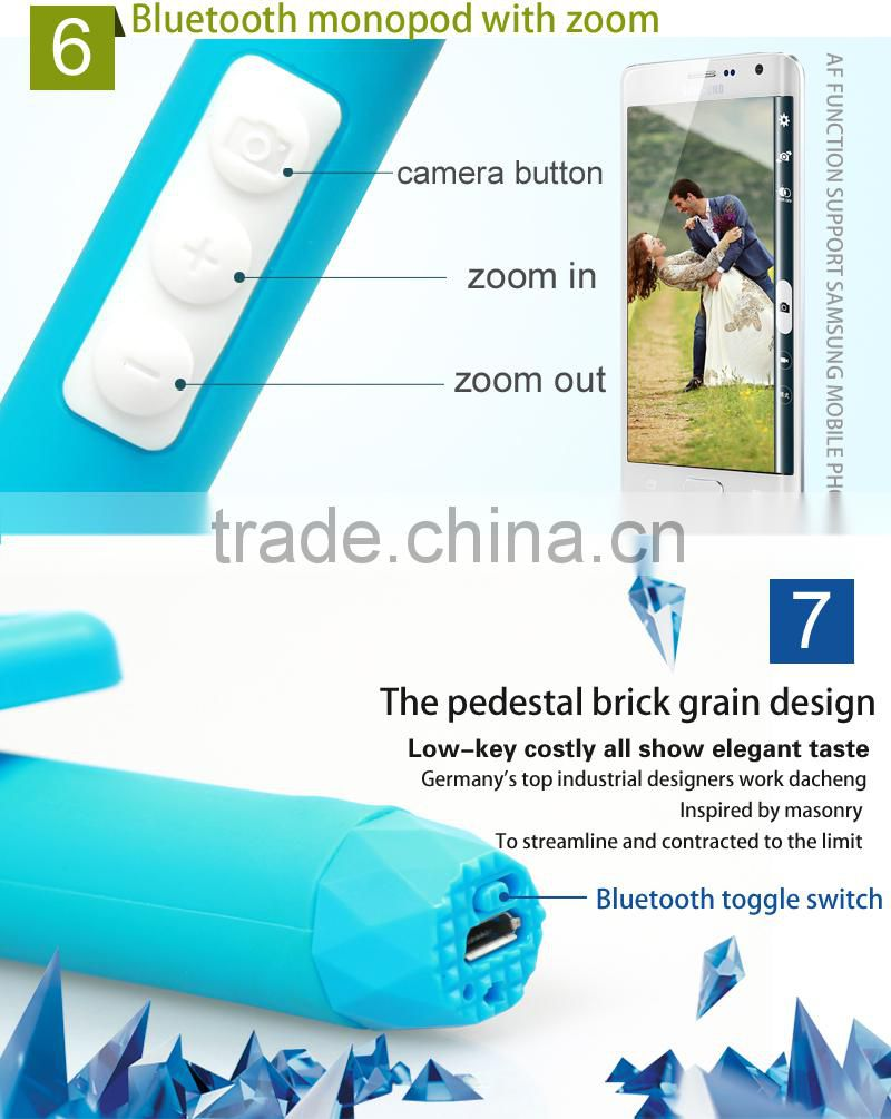 Promotional gift Selfie Stick With Bluetooth Shutter Button, mini bluetooth monopod , bluetooth selfie stick