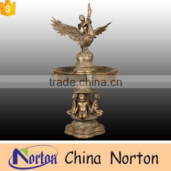 Outdoor decoration large bronze/brass garden water fountain NTBF-L473A
