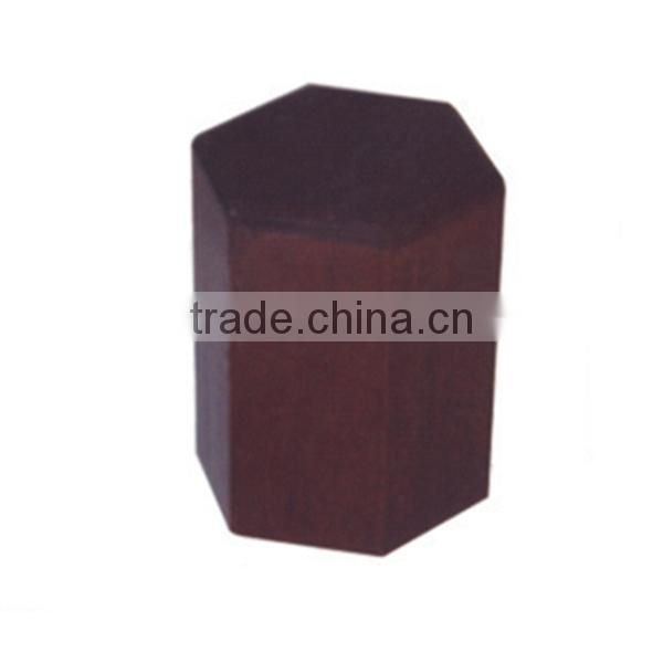 Hexagon shape of cremation wooden urns for ashes