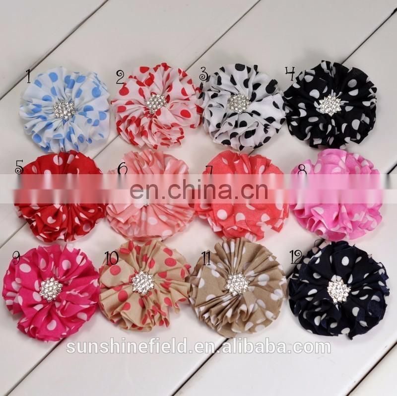 Chiffon Flower Chiffon Chevron Flower Matching Starbeurst Botton Without Clip