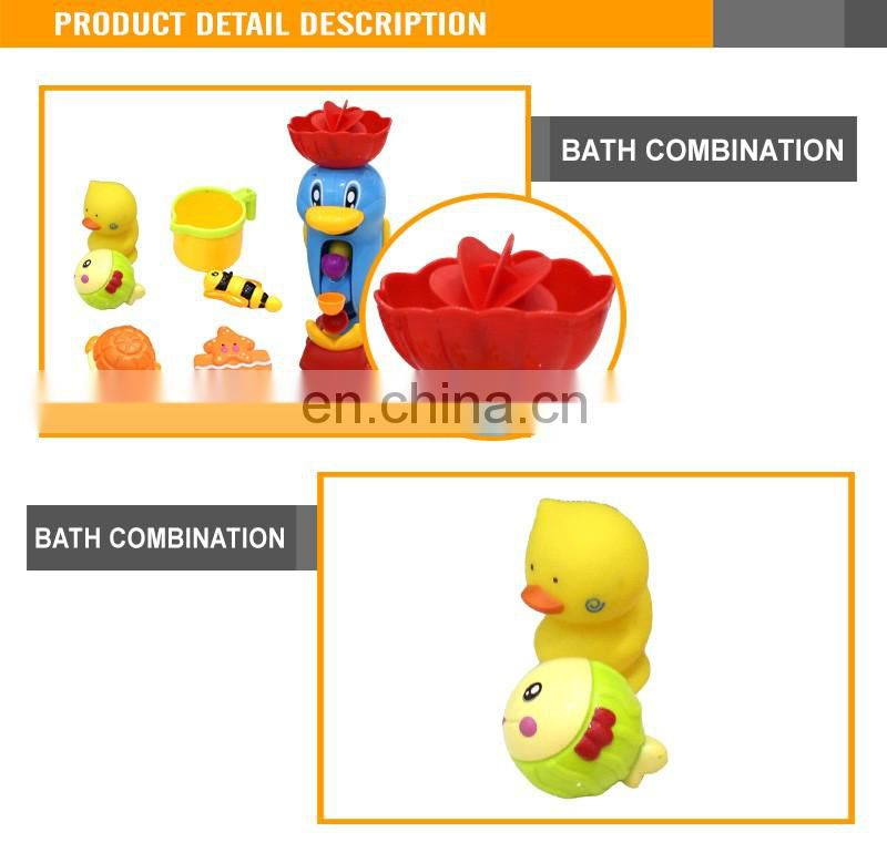 Unique Funny Children Dolphins Swim Set Water Bath Toy Baby Bath Toys