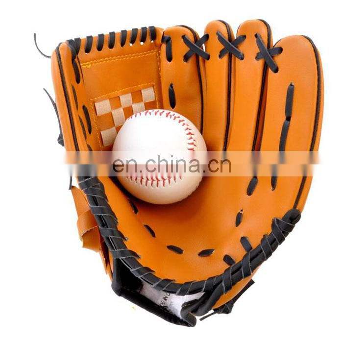 Baseball Gloves China Soft Thicken Durable PU Leather 10.5 inch 11.5 inch 12.5 inch professional cheap baseball gloves