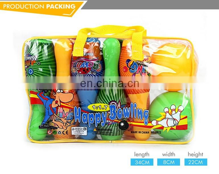 Best selling mini plastic cartoon bowling toys party set