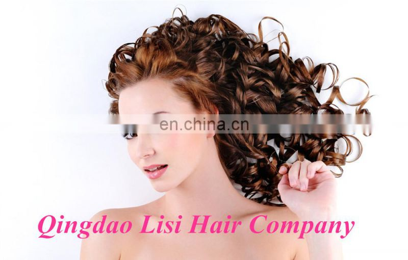 Fashion Design Double Drawn Top Quality Brand Name Crown Halo Hair 120G