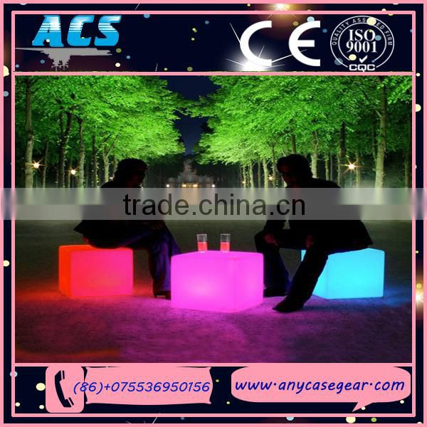 ACS new invention color changing rechargable led cube,led cube light for bar,cafe,garden,home decoration Image