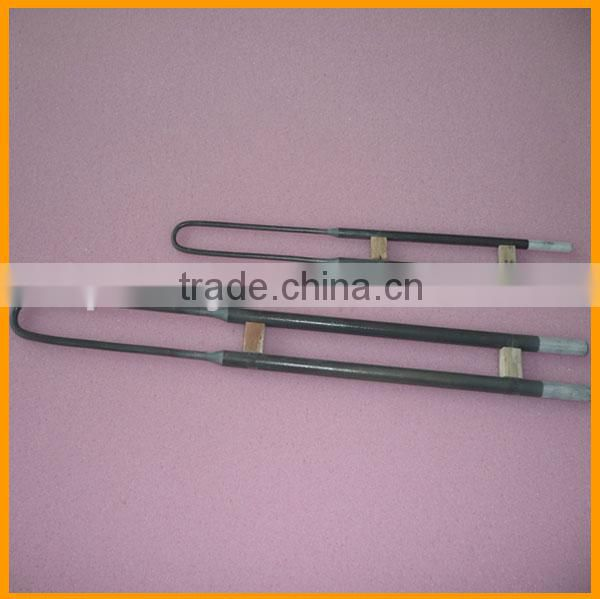 high temperature 1800C industrial oven U shape electric MoSi2 molybdenum disilicide heater rod Image