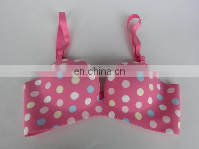 latest polka dot white brassiere Trade assurance supplier underwear
