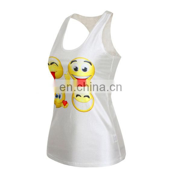 Wholesale Custom dri fit print blank sports gym sublimation women tank top