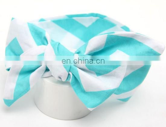 Big Bow Headband Baby Topknot Chevron Headband Turban Wrap Bandanna Head Wrap For Newborn Headwrap Photo Prop