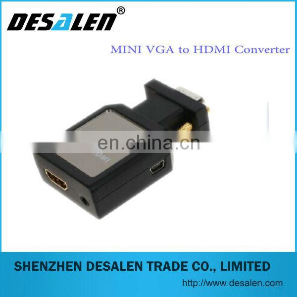 Professional high quality 1080p mini vga 2 hdmi converter