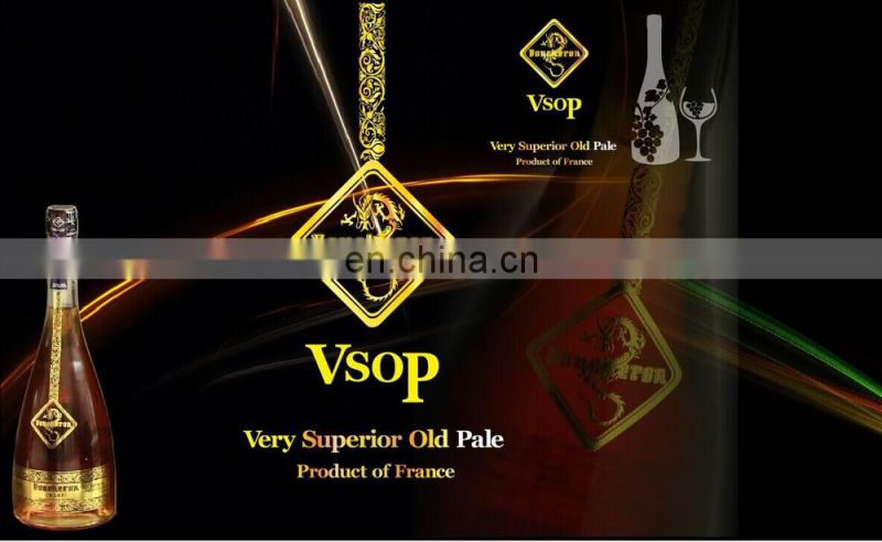 Top quality cognac brands brandy supplier with ISO FDA and QS