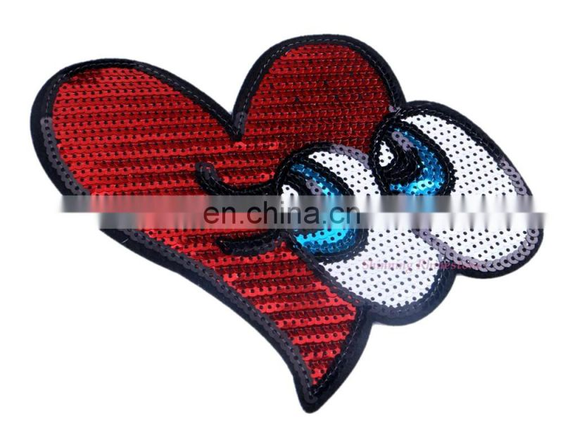 Name Angel Embroidered Iron On Applique Patch Pink Heart