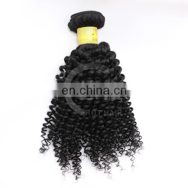 Hot selling GRADE 7A unprocessed factory price 100% virgin indian kinky curly clip inhuman hair extensions