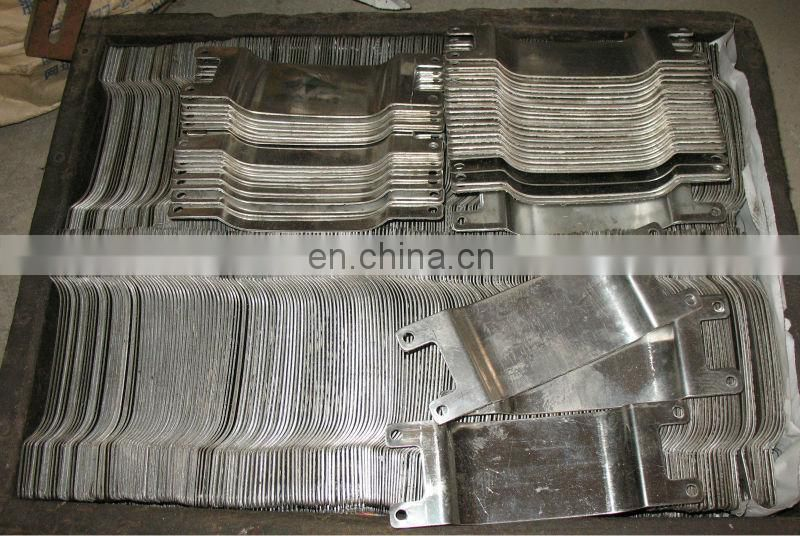 custom hot stamp stainless steel sheet automatic hot foil stamping machine parts