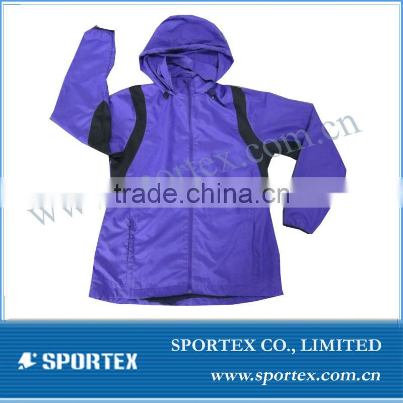2013 High Quality 100%Polyester Waterproof Running Jacket / New design lightweight running jacket / outdoor running jacket