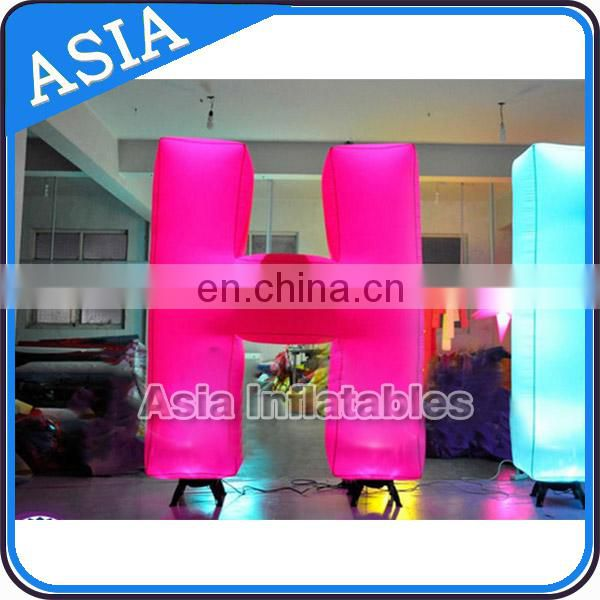 Advertising inflatable lighting letters / lighting inflatable letters for rental