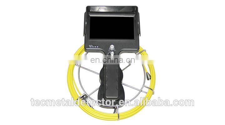 7 inch Portable Color Monitor Sewer Pipe Inspection Camera with 20/30/40m Cable TEC710-SCJ