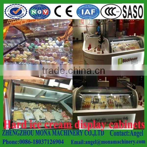 Hot sale ice cream display refrigerator/ice cream display cabinet