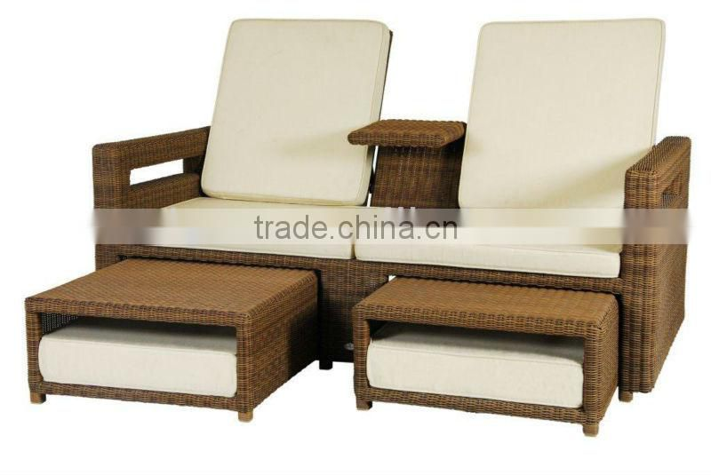 2017 Philippine Bamboo Furniture Por Rattan Wicker Double Seat Product Description
