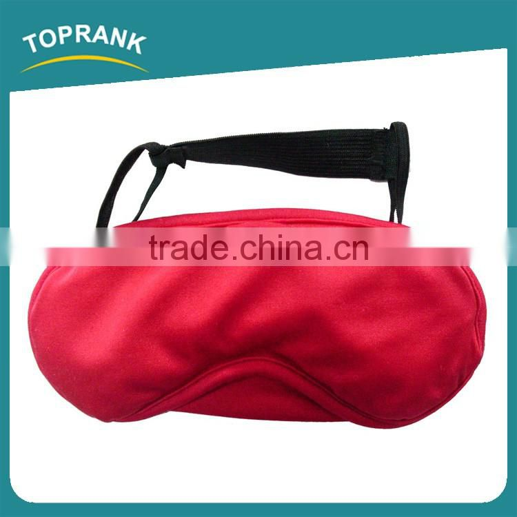 Toprank Soft Polyester Sleeping Eye Mask Travel Airplane Eye Cover Sleeping Eye Blindfold Eyeshade With Micro Bead Stuffing