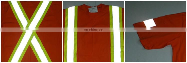 High visibility Short Sleeve Reflective Strips Safety Polo Shirt
