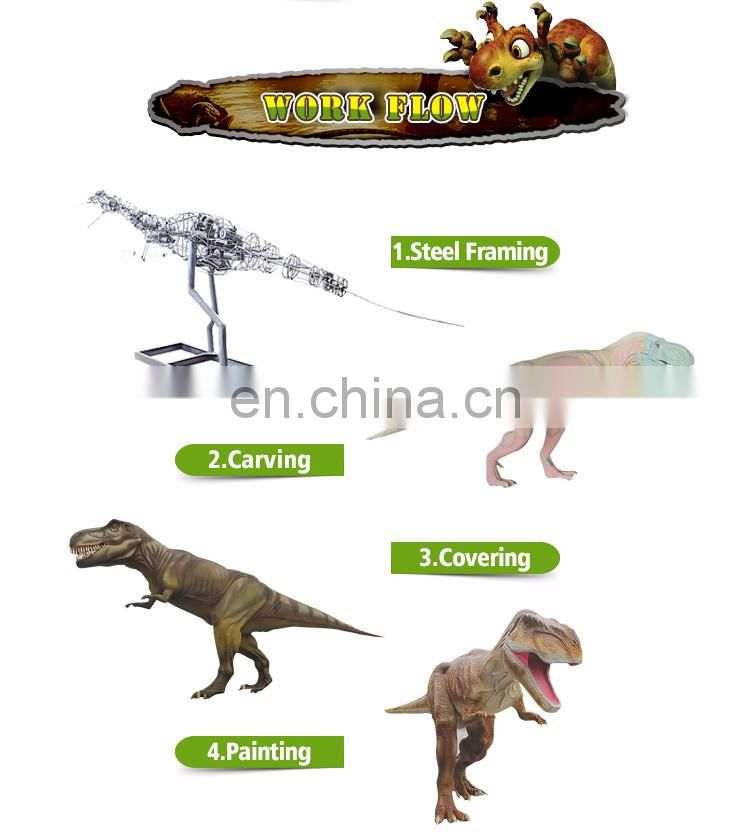 KAWAH Mechanical walking real life dinosaur for interactive education