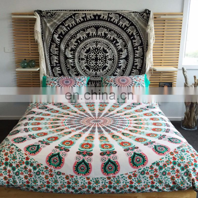 Mandala Star print Single bed sheet Throw