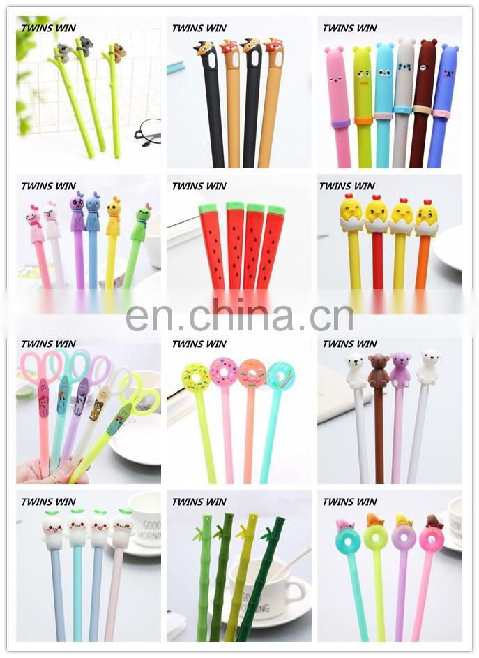 Amazon Hot sell pretty stationery custo logo multi function cartoon cute plastic gel pens set
